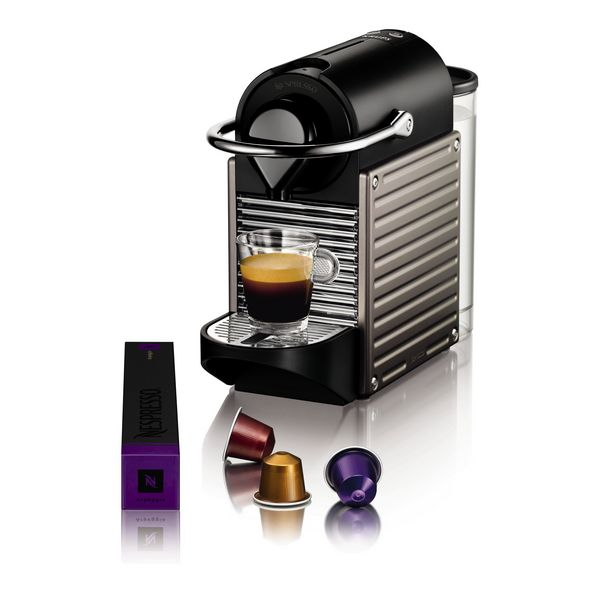 Krups Pixie XN3005 Pod coffee machine 0.7L Titanium