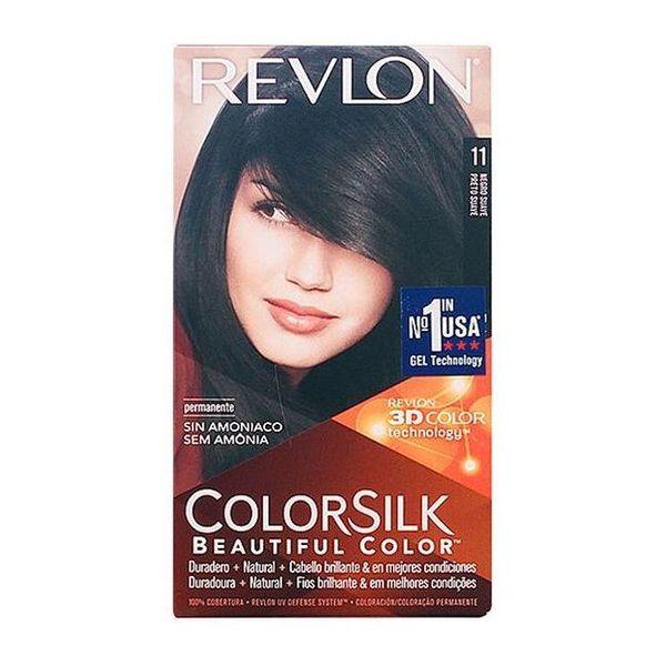 Barva za lase brez amonijaka Colorsilk Revlon Nežno črna
