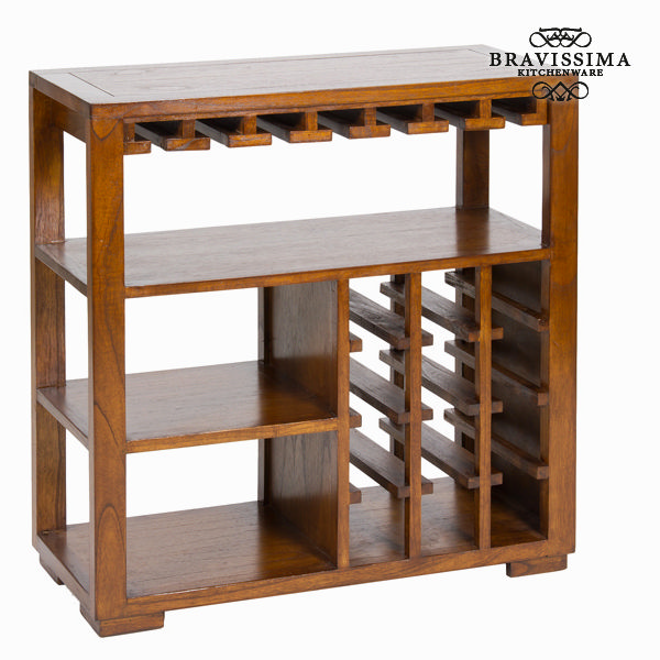 Porta bottiglie con ripiani legno - Serious Line Collezione by Bravissima Kitchen 7569000701711  02_S0101624