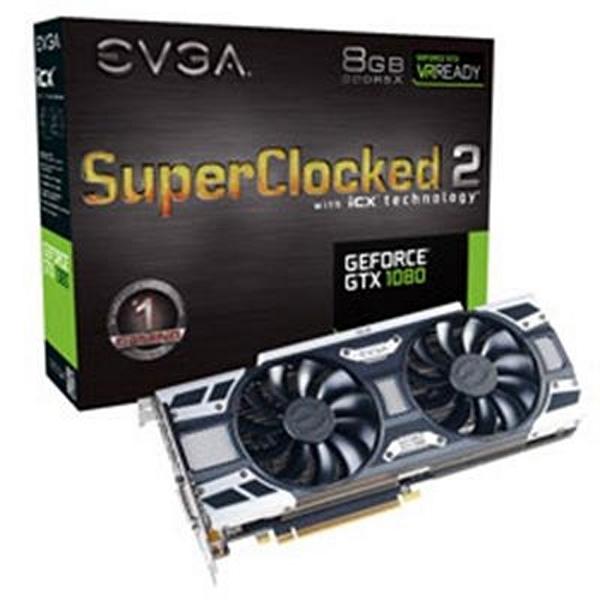 Tarjeta Gráfica Gaming EVGA 08G-P4-6583-KR GTX 1080 8 GB DDR5