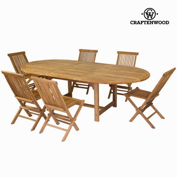 Kihúzható asztal 6 székkel by Craftenwood