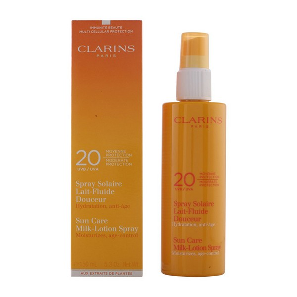 Porjavitveni sprej Lait Fluide Clarins Spf 20 - Spf 20 - 150 ml