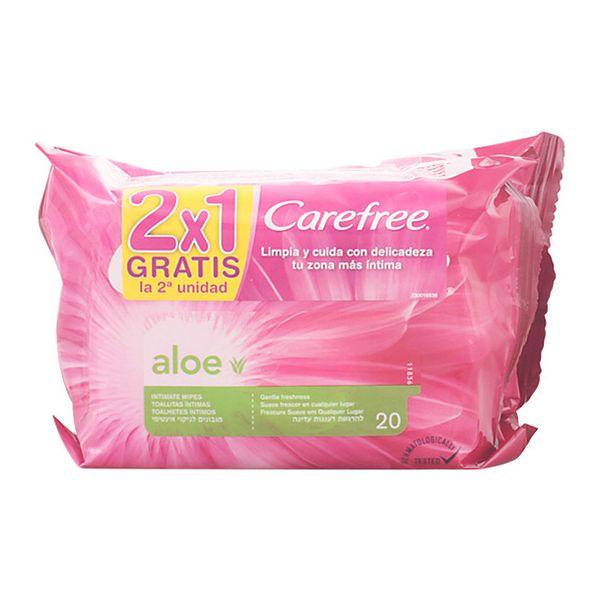 Intimni vlažilni robčki Aloe Vera Carefree (2 pcs)