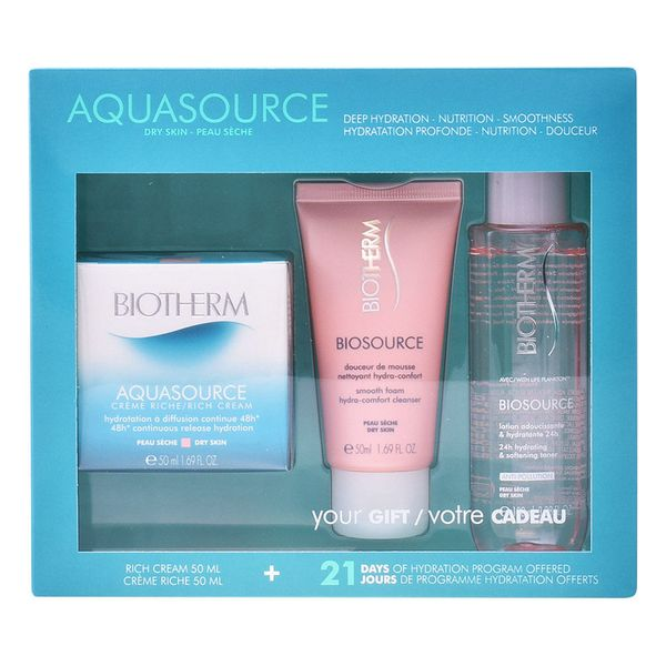 Női Kozmetikai Szett Aquasource Creme Ps Biotherm (3 pcs)