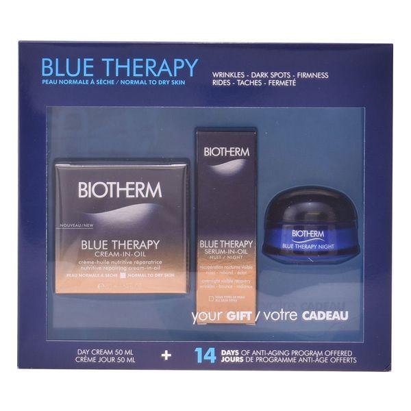 Női Kozmetikai Szett Blue Therapy Cream In Oil Biotherm (3 pcs)