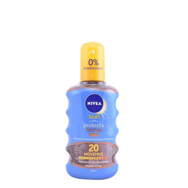 Zaščitni sprej za sonce Protege & Broncea Nivea SPF 20 (300 ml)