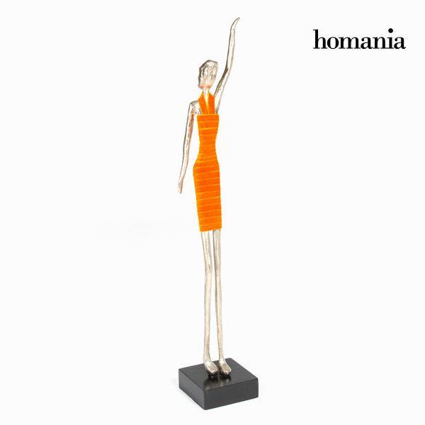 Oranžna figurica ženska obleka by Homania