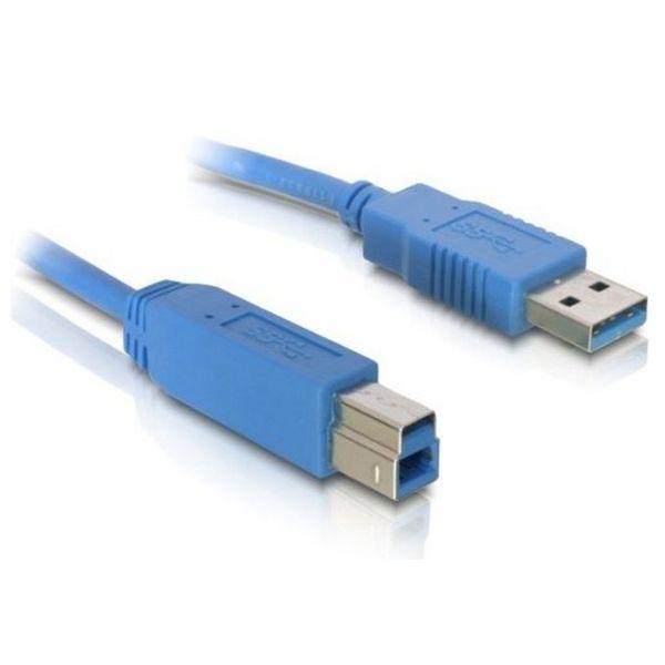 Kabel USB A v USB B DELOCK 82582 5 m Moški v Moški konektor Modra