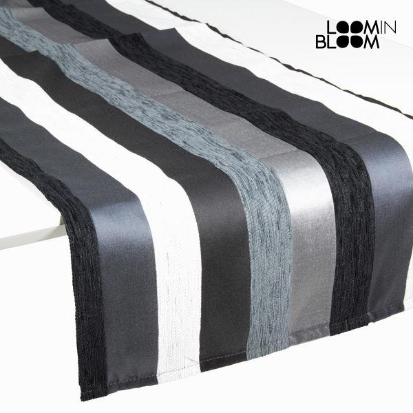Črni prt tekač motegi  - Colored Lines Zbirka by Loomin Bloom