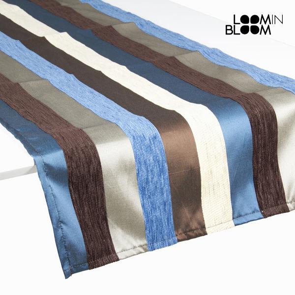 Asztali Futó Terítő Kék (135 x 40 cm) - Colored Lines Gyűjtemény by Loom In Bloom