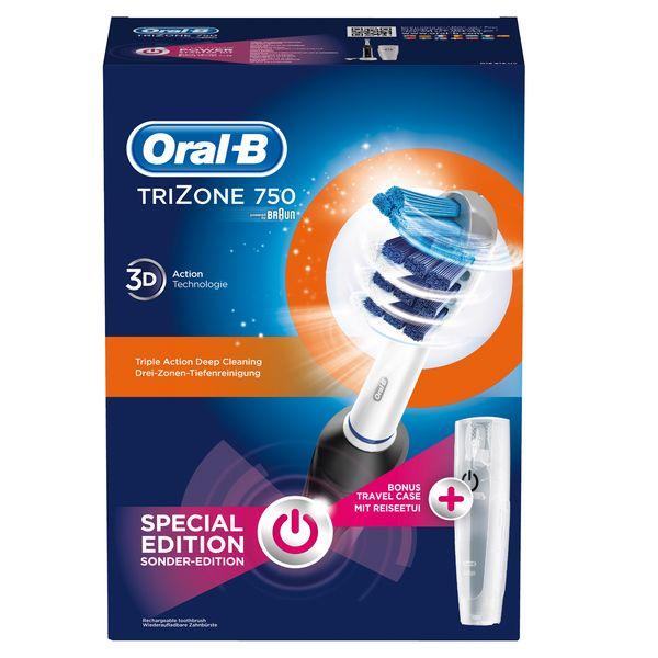 Cepillo de Dientes Eléctrico Oral-B TriZone 750 Pro Negro Blanco (3)