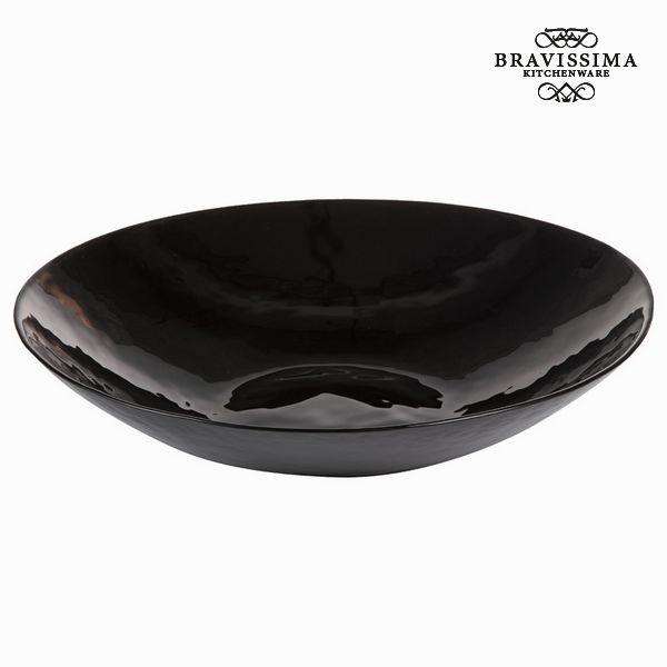 Plat en verre noir - Collection Crystal Colours Kitchen by Bravissima Kitchen