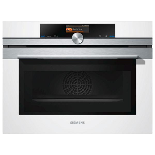 Kompakt sütő Siemens AG CM636GBW1 45 L Multifunción Microondas 3600W Fehér Rozsdamentes acél