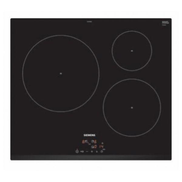 Indukciós Főzőlap Siemens AG EU631BJB2E 60 cm Fekete (3 főzőfelületek)