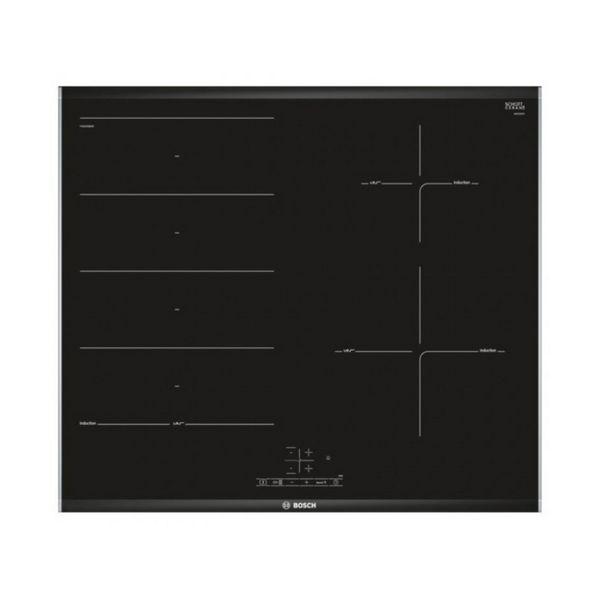 Indukciós Főzőlap BOSCH PXE675BB1E 60 cm (3 főzőfelületek) Fekete