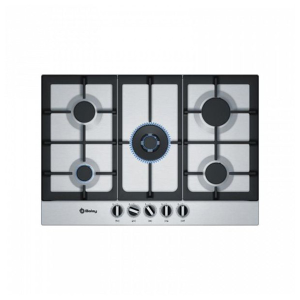 Gáz Főzőlap Balay 219355 11500W 75 cm Rozsdamentes acél Fekete