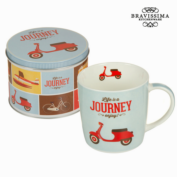 Tasse avec boîte vespa - Collection Kitchen's Deco by Bravissima Kitchen