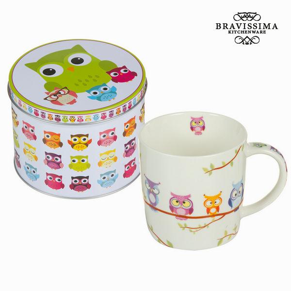 Tasse avec boîte hiboux - Collection Kitchen's Deco by Bravissima Kitchen