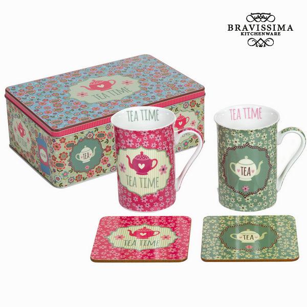 Lot de 2 tasses avec dessous d - Collection Kitchen's Deco by Bravissima Kitchen