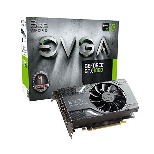Tarjeta Gráfica Gaming EVGA 06G-P4-6161-KR GTX 1060 ACX 2.0 6 GB|DDR5