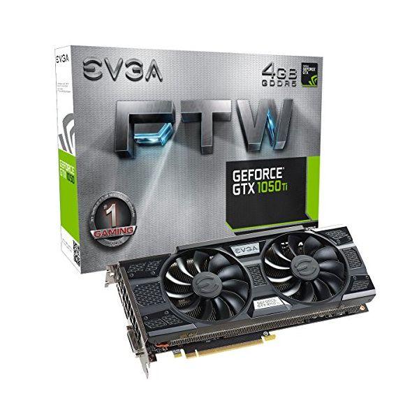 Tarjeta Gráfica Gaming EVGA 04G-P4-6258-KR GTX 1050 TI FTW 4 GB|DDR5