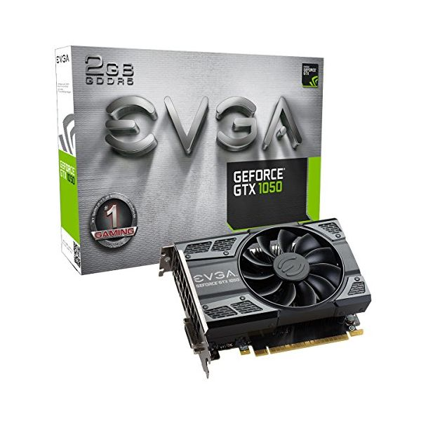 Tarjeta Gráfica Gaming EVGA 02G-P4-6150-KR GTX 1050 ACX 2 GB|DDR5