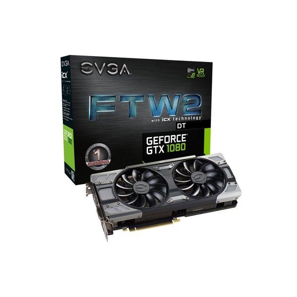 Tarjeta Gráfica Gaming EVGA 08G-P4-6684-KR GTX 1080 FTW2DT 8 GB|DDR5