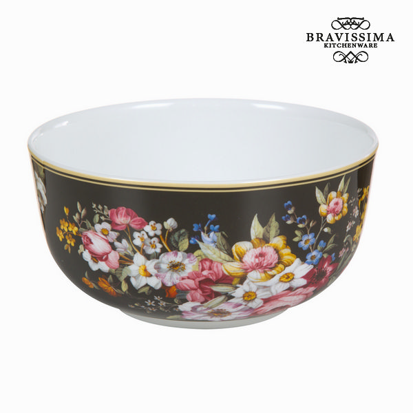 Bol en porcelaine bloom black - Collection Kitchen's Deco by Bravissima Kitchen