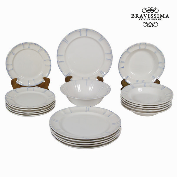 Service vaisselle 19 pièces - Collection Kitchen's Deco by Bravissima Kitchen