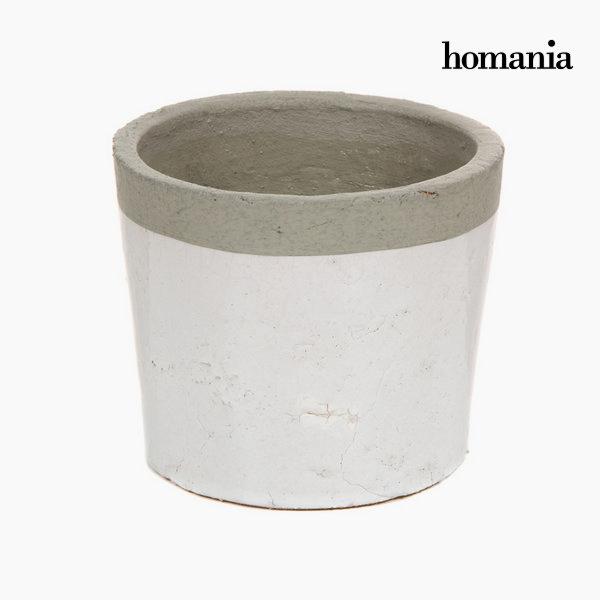 Okrasni  beli / sivi keramični lonec by Homania