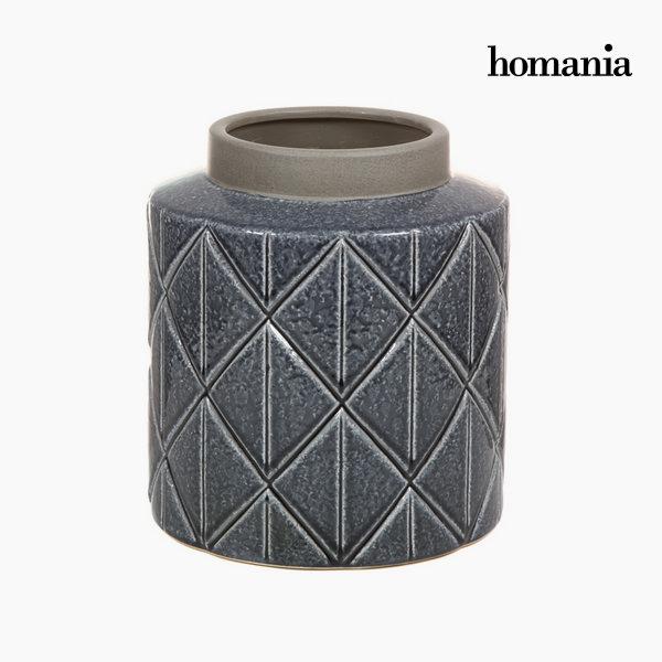Jarrón De Cerámica Gris Oscuro By Homania -  - ebay.es