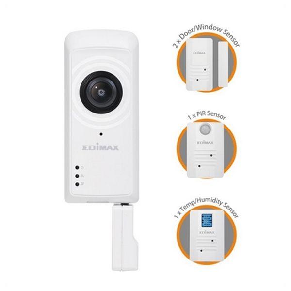 IP Camera + Sensors Edimax IC-5170SC (H/V/D): 180° / 142° / 206° Zoom 4x Wifi