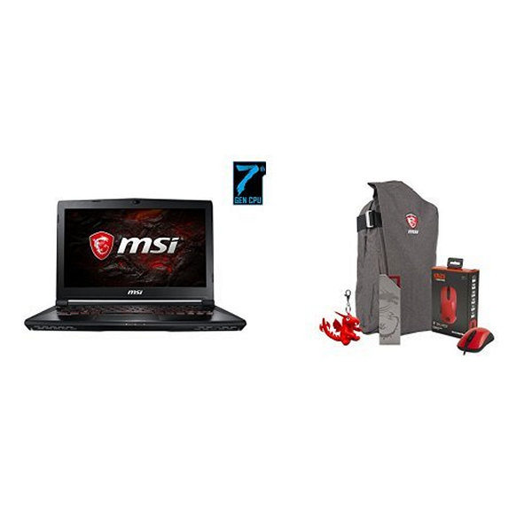"Portátil Gaming MSI GS43VR-203XES 14"" i7-7700HQ 16 GB 1 TB 256 GB SSD GTX1060 Sin Sistema Operativo Negro"