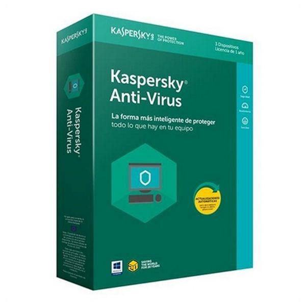 Antivirus Hogar Kaspersky Anti-Virus 2018 KL1171S5CFS-8 3L/1A |