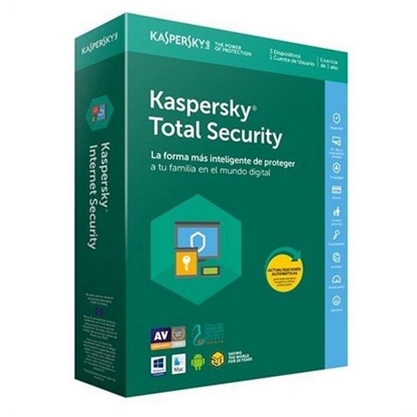 Antivirus Hogar Kaspersky Total Security 2018 KL1919S5CFS-8 3L/1A Multi-Device |