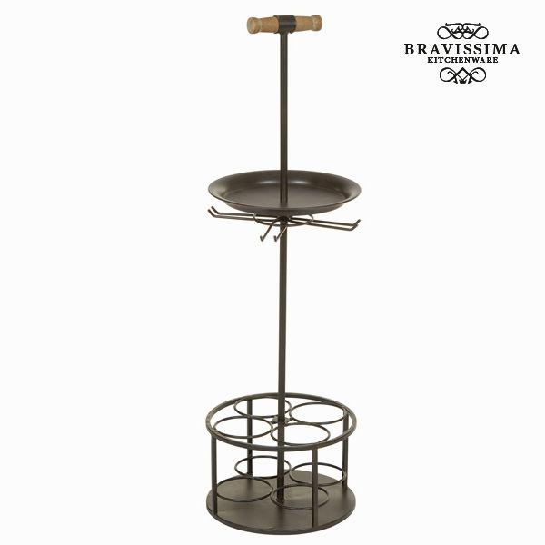 Porta bottiglie con maniglia colore nero by Bravissima Kitchen 7569000730124  02_S0102774