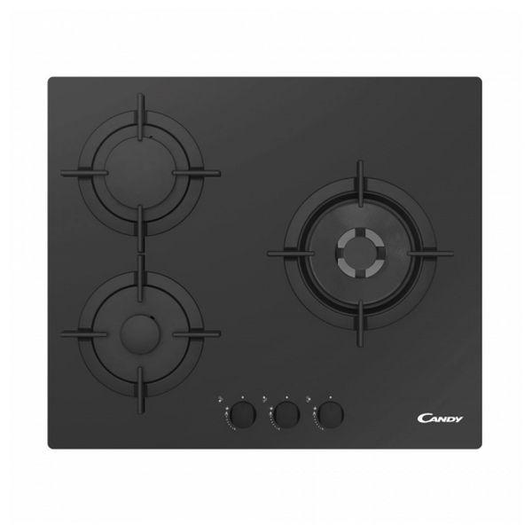Gáz Főzőlap Candy CVG 63 SWPN 60 cm Fekete (3 tűzhelyek)