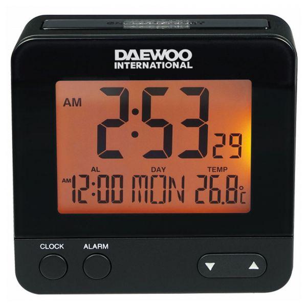 Ébresztőóra Daewoo DCD-201 Fekete