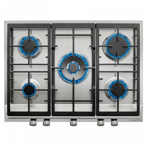 Gáz Főzőlap Teka 219469 11300W 70 cm Rozsdamentes acél Fekete