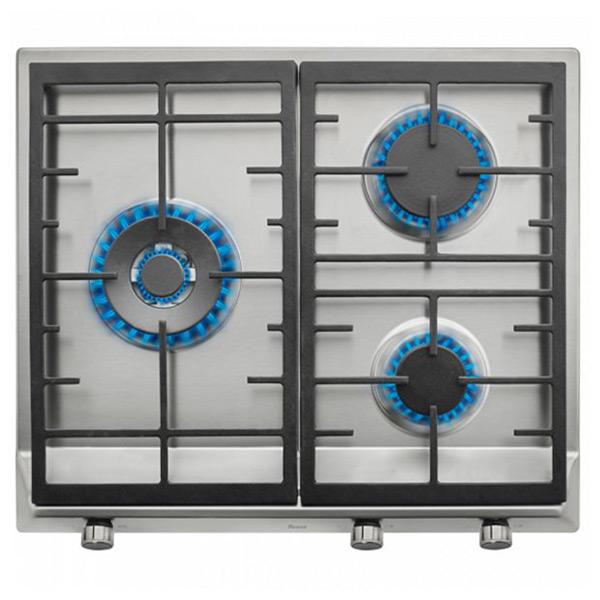 Gáz Főzőlap Teka 219188 8550W 60 cm Rozsdamentes acél Fekete