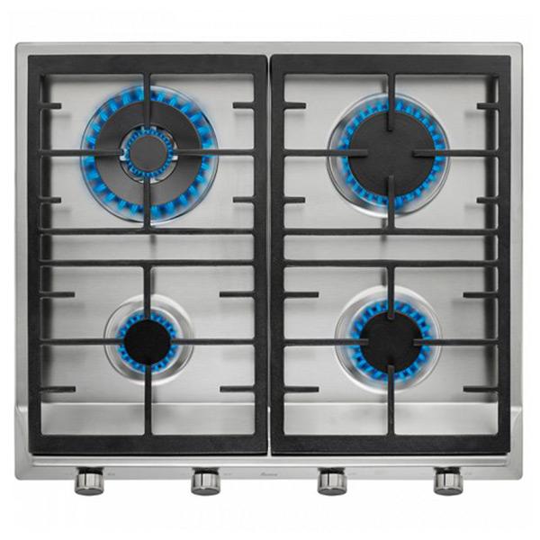 Gáz Főzőlap Teka 219324 9550W 60 cm Rozsdamentes acél Fekete