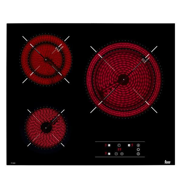 Kerámia Főzőlap Teka TT6320 60 cm Fekete (3 főzőfelületek)