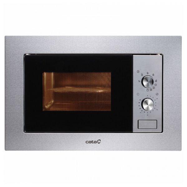 Built-in microwave with grill Cata MC20IX 20 L 800W Rozsdamentes acél