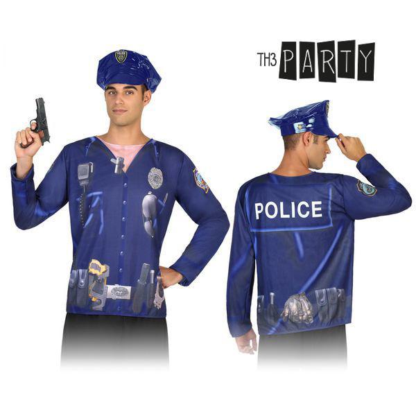 Póló Felnőtteknek Th3 Party 7598 Rendőr férfi