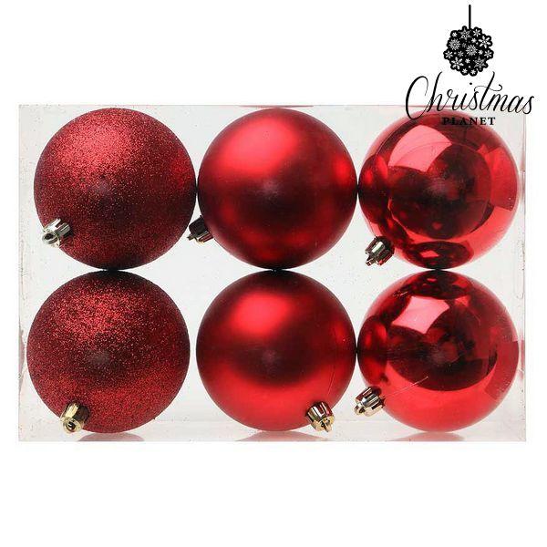 Karácsonyi díszek Christmas Planet 7964 8 cm (6 uds) Piros