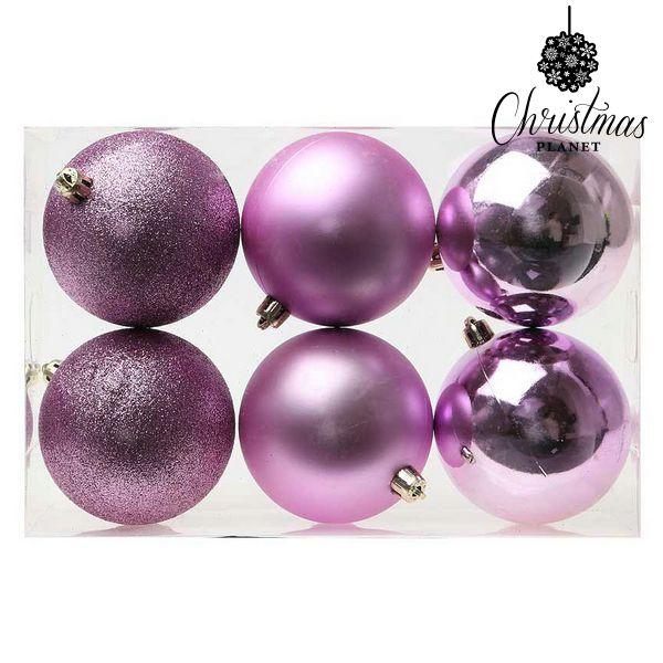 Karácsonyi díszek Christmas Planet 8008 8 cm (6 uds) Lila