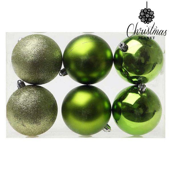 Karácsonyi díszek Christmas Planet 8107 8 cm (6 uds) Zöld