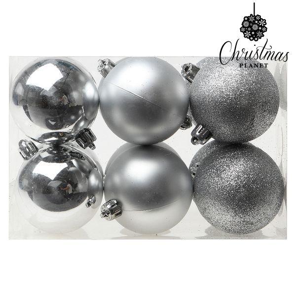 Karácsonyi díszek Christmas Planet 8145 6 cm (12 uds) Ezüst színű