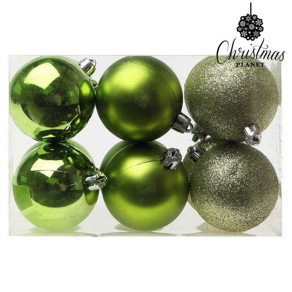 Karácsonyi díszek Christmas Planet 8213 6 cm (12 uds) Zöld