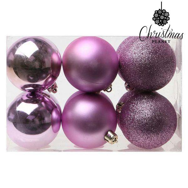 Karácsonyi díszek Christmas Planet 8251 6 cm (12 uds) Lila